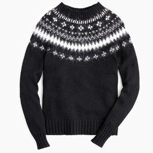 J crew jewel embellish fair isle sweater
